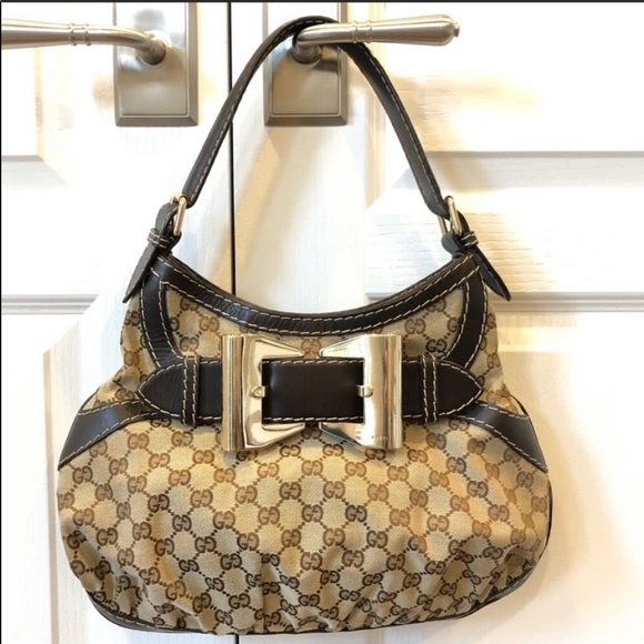 Gucci Handbags - Gucci GG Queen Guccissimma Bow Hobo Shoulder Bag